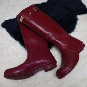 Magenta Hunter Tall Rubber Boots